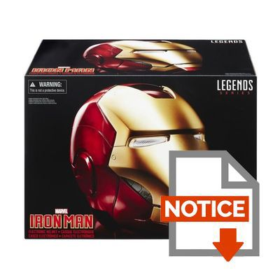Mode d'emploi AVENGERS Casque Legend Gear Iron Man