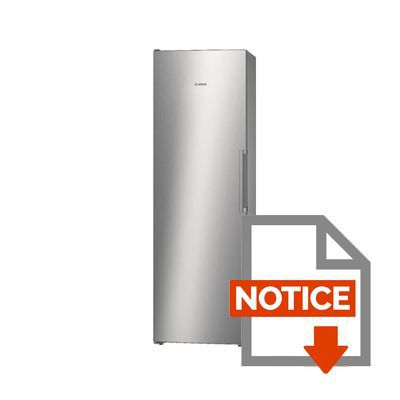 bosch ksv36vl30 - réfrigérateur 1 porte - 346l - froid brassé - a