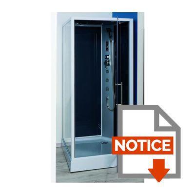 Cabine de douche hydromassante niky grise 90x90cm achat - Notice de montage cabine de douche aurlane ...