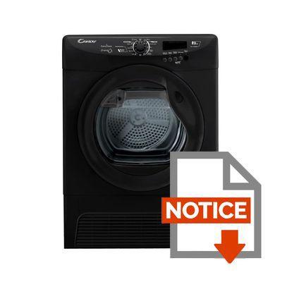 candy gcc 7913nbb - sèche-linge à condensation 9kg noir - achat