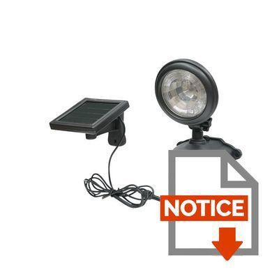 Solarline lampe solaire de s curit avec d tecteur de mouvement achat vente d tecteur de - Lampe avec detecteur ...