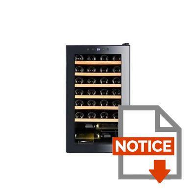 continental edison cecwc48led - cave à vin de service - 48