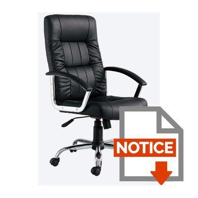 FINLANDEK fauteuil de bureau LAKSYT simili noir Achat Vente