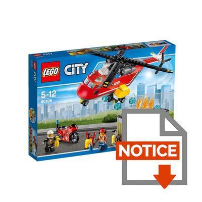 mode demploi lego city 60108 lunit de secours des pompiers - Lego City Pompier