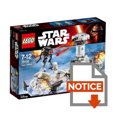 Mode d'emploi LEGO® Star Wars™ 75138 Hoth™ Attack