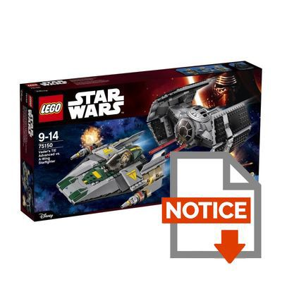 Mode d'emploi LEGO® Star Wars™ 75150 Le TIE Advanced de Dark Vador Contre l'A-Wing Starfighter