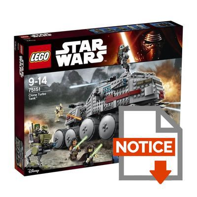 Mode d'emploi LEGO® Star Wars™ 75151 Clone Turbo Tank™