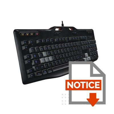 Mode d'emploi Logitech clavier gaming G105 Refresh