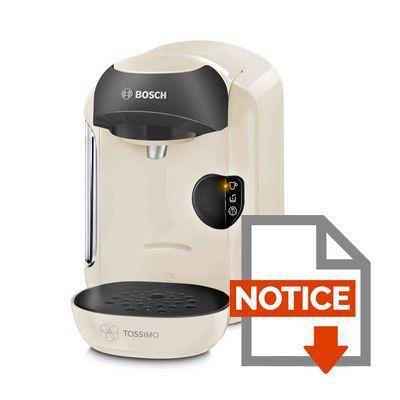 bosch tassimo vivy tas1257 - crème - achat / vente machine à café