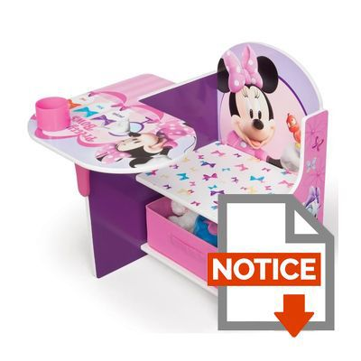 minnie pupitre enfant avec rangement rose et multicolore achat vente bureau b b. Black Bedroom Furniture Sets. Home Design Ideas