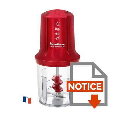 Mode d'emploi MOULINEX AT714G32 Hachoir multifonction Multi Moulinette - Rouge