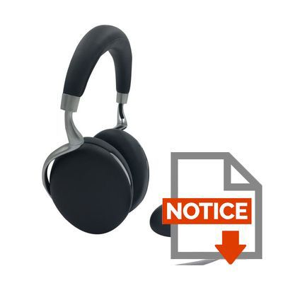 Mode d'emploi PARROT PF562102 Zik 3 by Starck - Casque audio Bluetooth Noir Grené