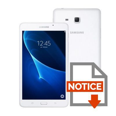 Mode d'emploi Tablette Tactile - SAMSUNG Galaxy Tab A6 - 7
