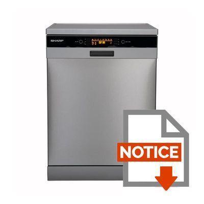 sharp qw t35f444i eu lave vaisselle posable 14 couverts 44db a 20 larg 59 6cm. Black Bedroom Furniture Sets. Home Design Ideas