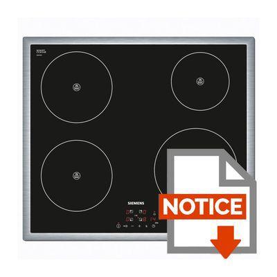 siemens eh645be18e table de cuisson à induction - 4 zones - 4600w