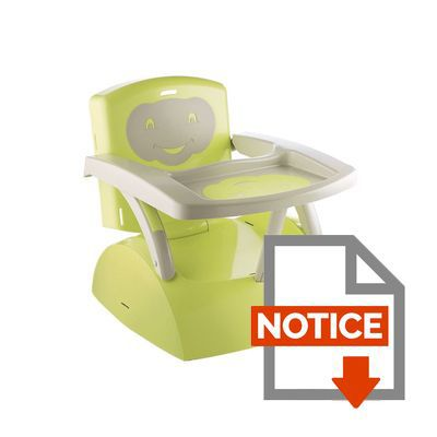 Thermobaby r hausseur de chaise babytop vert vert et gris - Rehausseur de chaise auchan ...