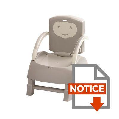 Thermobaby r hausseur de chaise gris et ivoire achat for Adaptateur chaise pour bb