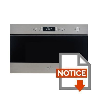 Mode d'emploi WHIRLPOOL AMW433IX - Micro ondes encastrable inox - 22 L - 750 W